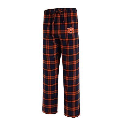 Men's Auburn University Parkway Flannel Pants ( Navy/Orange)