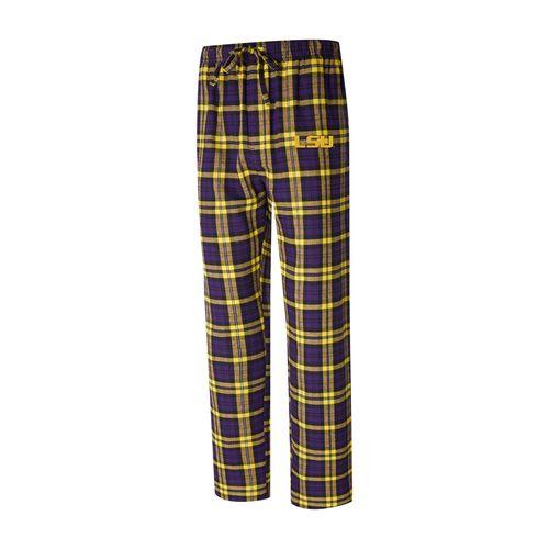Men's LSU Tigers Parkway Flannel Pants (Purple/Gold)