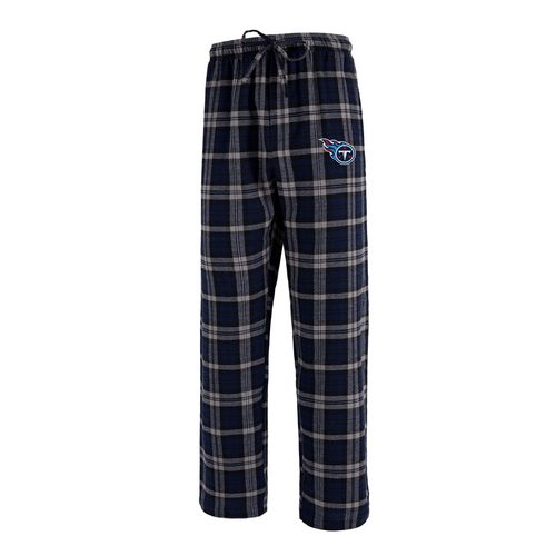 Men's Tennessee Titans Parkway Flannel Pants (Navy/Grey)