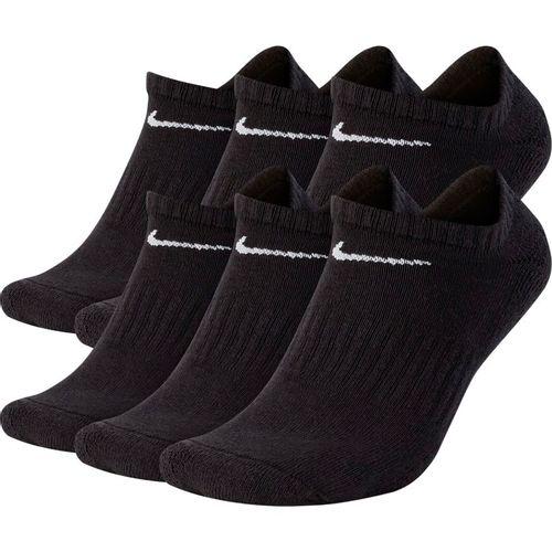 Nike Everyday Plus Cushioned No-Show Training Socks (Black/White)