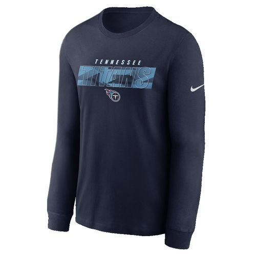 Men's Tennessee Titans  Playbook Long Sleeve T-Shirt (Navy)