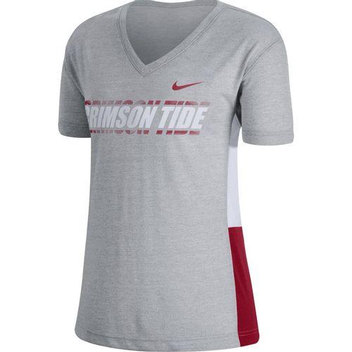 Women's Nike Alabama Crimson Tide Breathe T-Shirt (Heather/White)