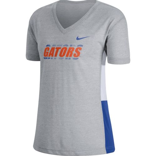 Women's Nike Florida Gators Breathe T-Shirt (Grey/White)