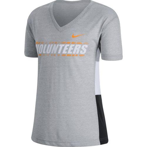 Women's Nike Tennessee Volunteers Breathe T-Shirt (Grey/White)