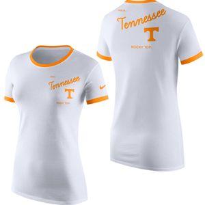 Women's Nike Tennessee Volunteers Ringer T-Shirt (White/Orange)