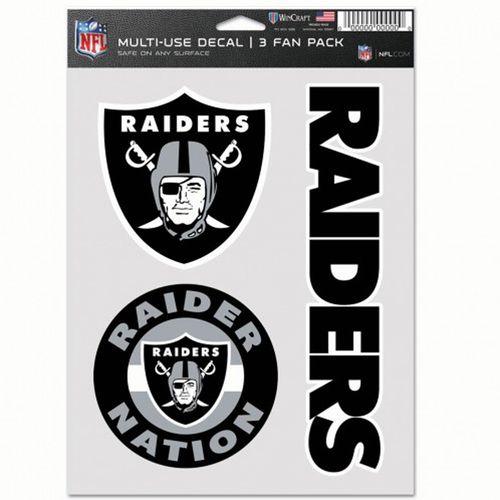 Las Vegas Raiders 3 Decal Fan Pack