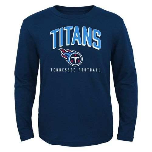 Toddler Tennessee Titans Arch Standard Long Sleeve Shirt (Navy)
