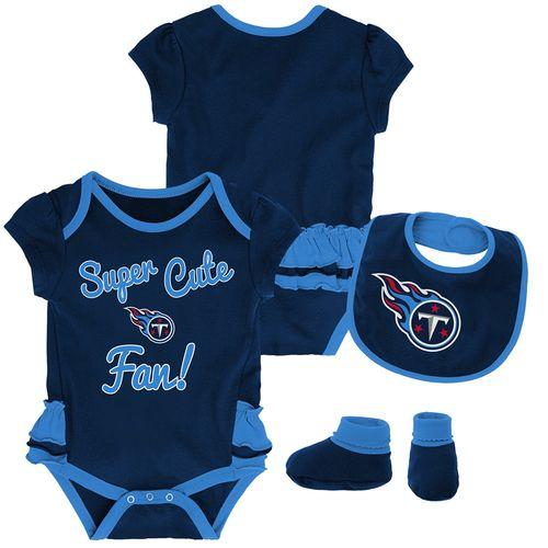 Infant Tennessee Titans Super Cute Bib Set (Navy)