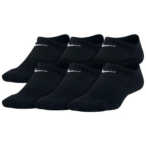 Kid's Nike 6-Pack Performance Cushioned No-Show Training Socks (Black/White)