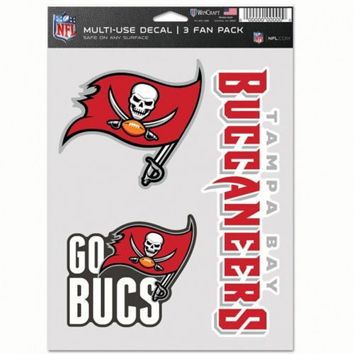 Tampa Bay Buccaneers 3 Decal Fan Pack