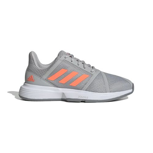 Women's Adidas CourtJam Bounce (Grey/Coral)
