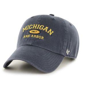 '47 Brand Michigan Wolverines Established Arch Adjustable Hat (Vintage Navy)