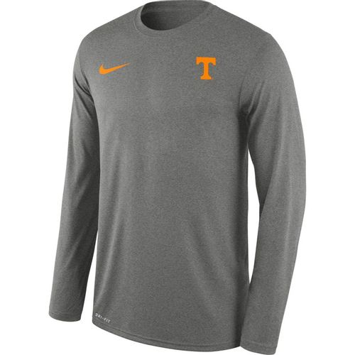 Men's Nike Tennessee Volunteers Legend Small Logo Long Sleeve Shirt (Carbon)