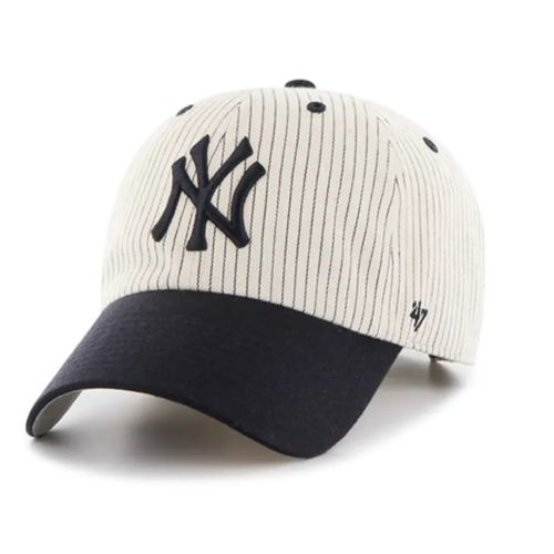 '47 Brand New York Yankees Pinstripe Homerun Clean Up Adjustable Hat (Navy)
