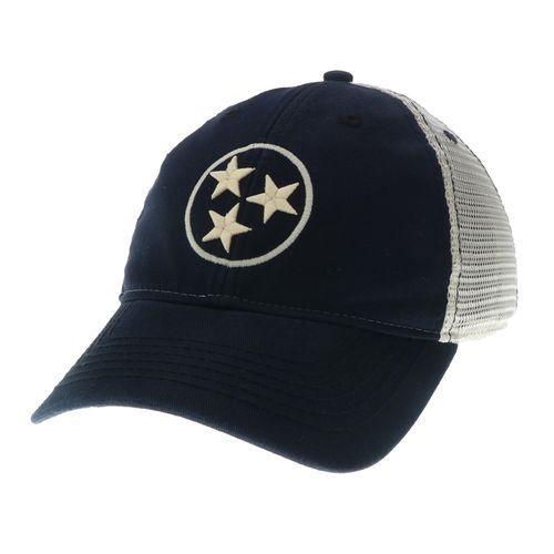 Legacy Tri-Star Off Road Trucker Adjustable Hat (Black/Mesh)
