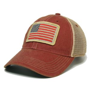Legacy USA Flag Trucker Adjustable Hat (Red/Mesh)