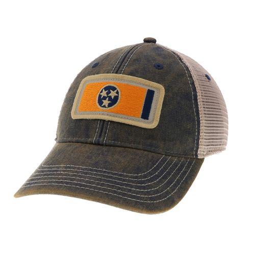 Legacy Off-Road Trucker Tennessee Flag Adjustable Hat (Navy/Orange)