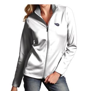 Women's Antigua Tennessee Titans Leader Jacket (White/Silver)