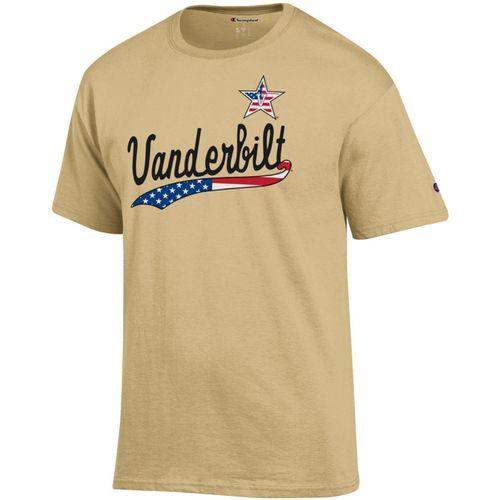 Men's Champion Vanderbilt Commodores Patriotic Jersey T-Shirt (Gold)