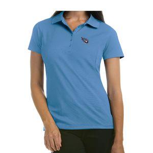 Women's Antigua Tennessee Titans Piquet Xtra-Lite Polo (Light Blue)