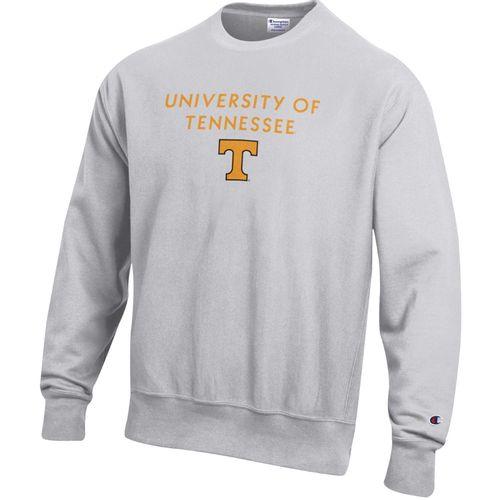 Men's Champion Tennessee Volunteers Power T Reverse Weave Fleece (Silver/Grey)