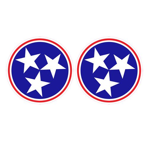 Tennessee Tri-Star 2 Pack of Decals (Red)