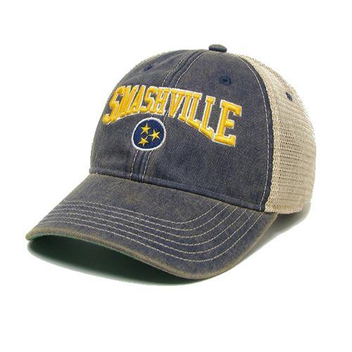Legacy Nashville Predators Smashville Tri-Star Adjustable Hat (Navy)