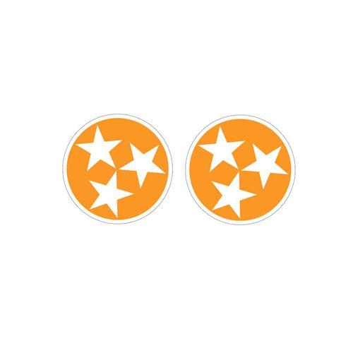 Tennessee Tri-Star 2 Pack of Decals (Orange)