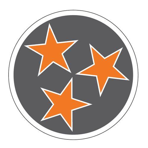 Tri Star Decal (Grey)