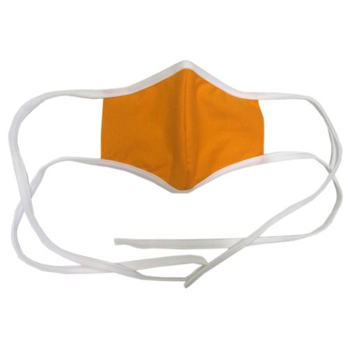 Orange and White Tie String Face Covering
