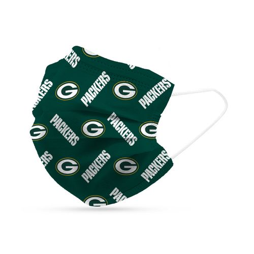 Green Bay Packers 6-Pack Disposable Face Covering