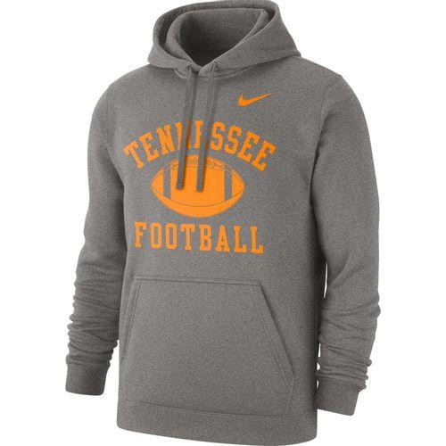 Men's Nike Tennessee Volunteers Football Club Hooded Fleece (Dark Heather)