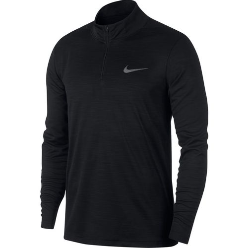 Men's Nike Dri-FIT Superset 1/4 Zip Training Long Sleeve (Black/Carbon)
