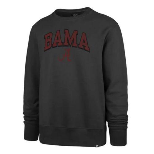 '47 Brand Men's Alabama Crimson Tide Arch Built Crew Fleece (Charcoal)