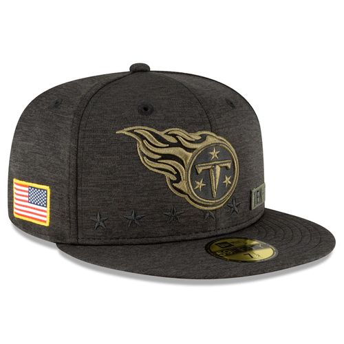 Men's New Era Tennessee Titans Salute To Service 950 Snap Back Fitted Hat (Black/Green)
