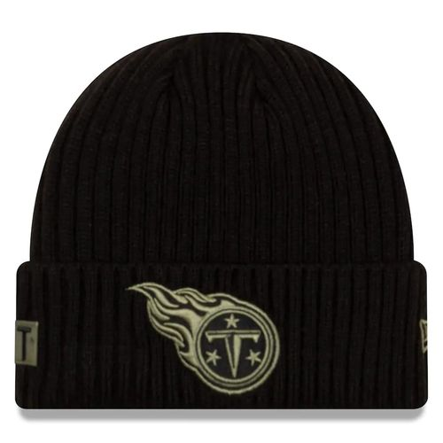 New Era Tennessee Titans Salute To Service Knitted Hat (Black/Green)