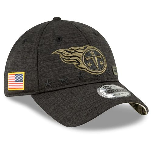 Men's New Era Tennessee Titans Salute To Service 920 Adjustable Hat (Black/Green)