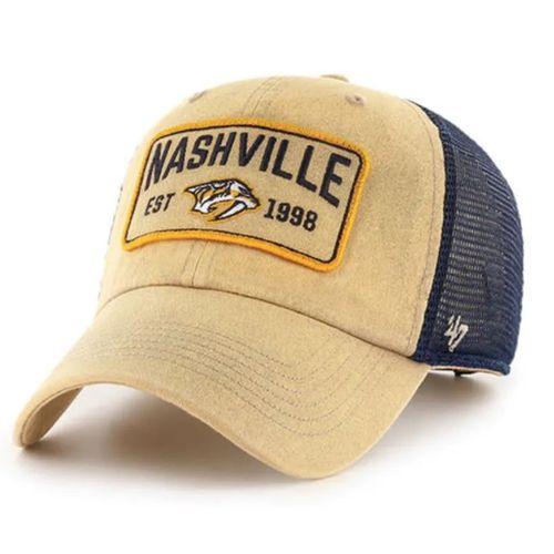'47 Brand Nashville Predators Gaudet Clean Up Adjustable Hat (Khaki)