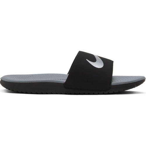 Grade School Nike Kawa Slide (Black/Silver)