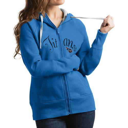 Women's Antigua Tennessee Titans Victory Zip-Up Hoodie (Light Blue)