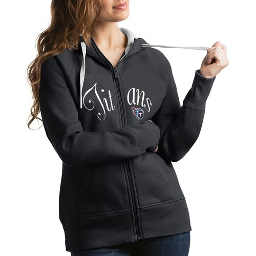 Women's Antigua Tennessee Titans Victory Zip-Up Hoodie (Charcoal)