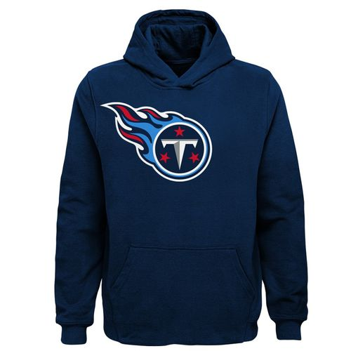 Youth Tennessee Titans Primary Logo Hooded Fleece (Navy)