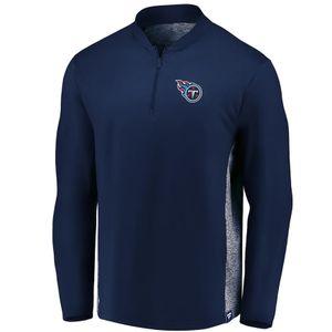 Men's Fanatics Tennessee Titans Quarter-Zip Clutch Pullover (Navy)