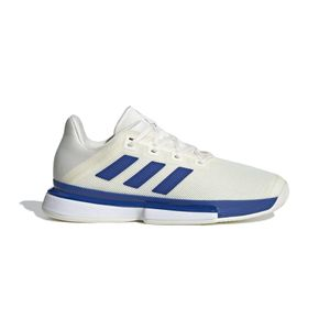 Men's Adidas Solematch Bounce (White/Royal)
