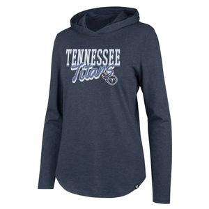 '47 Brand Women's Tennessee Titans Club Hooded Shirt (Navy)