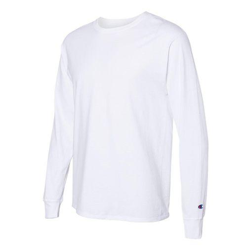 Men's Champion Basic Long Sleeve Shirt (White)