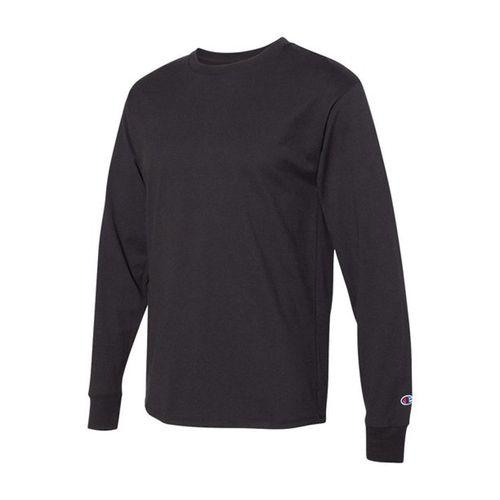 Men's Champion Basic Long Sleeve Shirt (Black)