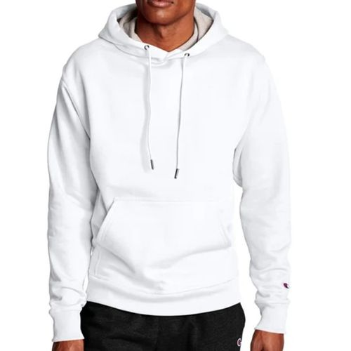 Men's Champion Powerblend Hooded Fleece (White)