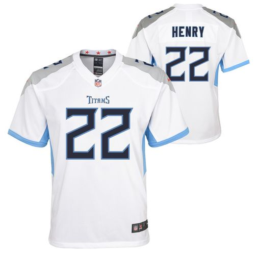 Youth Nike Tennessee Titans Derrick Henry Road Game Jersey (White)