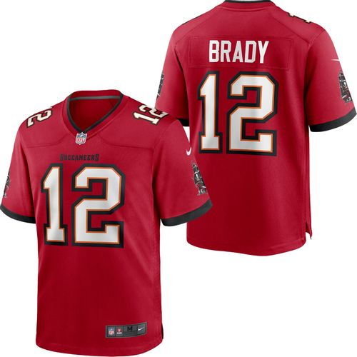 Men's Nike Tampa Bay Buccaneers Tom Brady Home Game Jersey (Red)